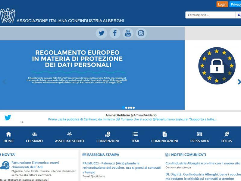Confindustria alberghi online il portale rinnovato ttg for Confindustria alberghi